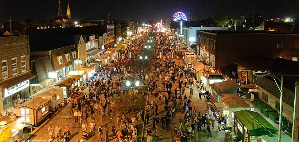 Fall Festival - Street View at Night