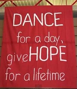 USI Dance Marathon Give Hope Banner