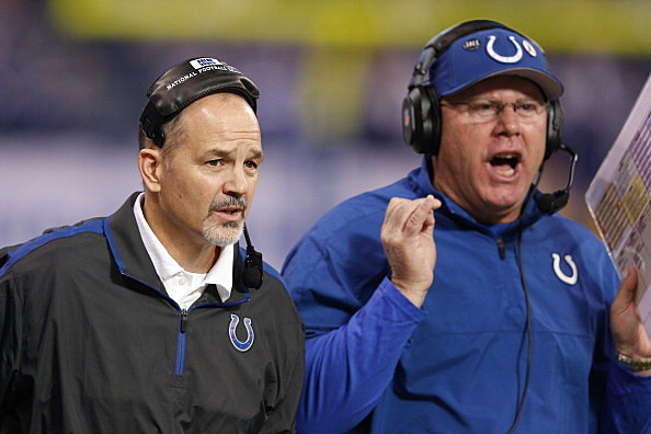 Indianapolis Colts Coaches Chuck Pagano and Bruce Arians