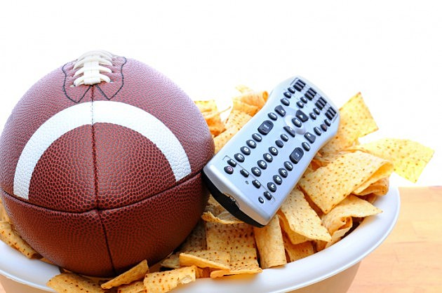 TV Remote Chips and football - credit - iStockphoto - 15378370
