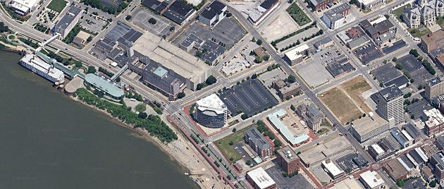 Evansville Riverfront - Satellite View