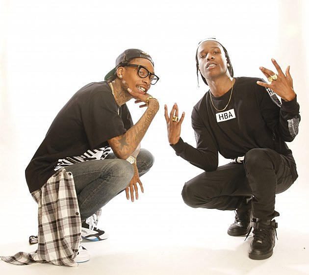 Wiz Khalifa & ASAP Rocky Publicity Tour Photo Shoot