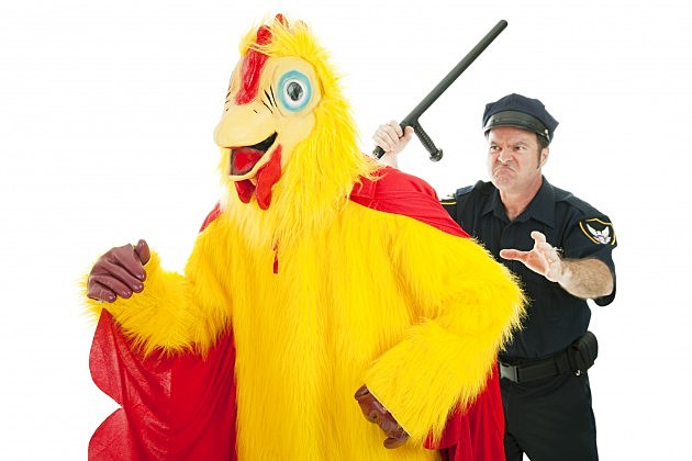 Funny Chicken Police: It Came From Evansville Watch Featuring A Seven Foot Bird