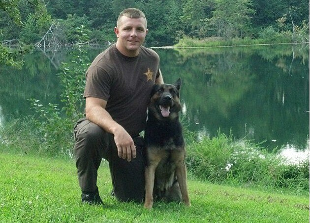 Warrick County K9 Officers Jarrett Busing & RONY