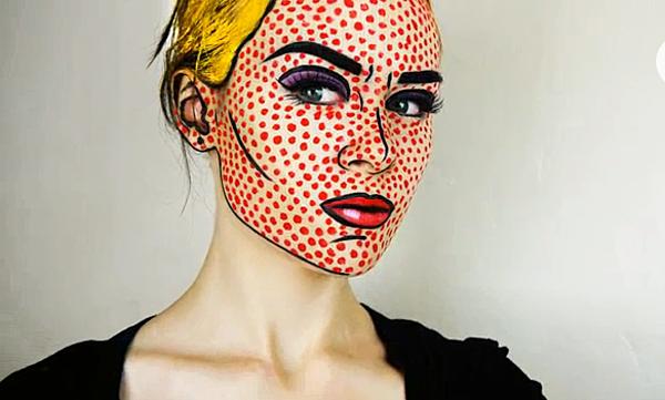 Comic character makeup