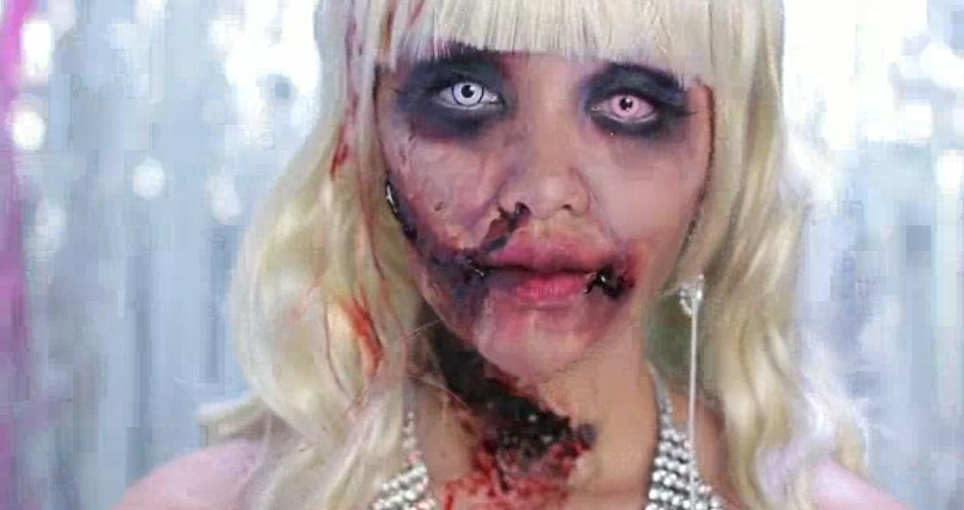 Learn how to apply diy zombie barbie makeup for halloween video solutioingenieria Images