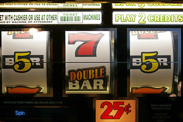 Close-up of a slot machine in Las Vegas