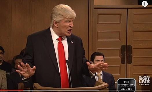 Trump Peoples Court SNL