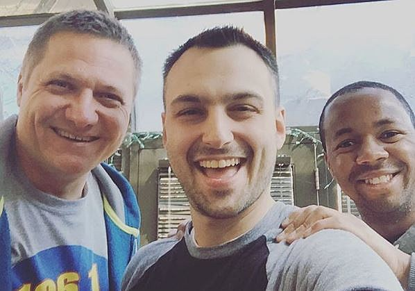 Me with 'Don't Quit Your Daydream Podcast' hosts Nathan Boerner (center) and Farrin Davis (right). (Courtesy: Don't Quit Your Daydream via Instagram)