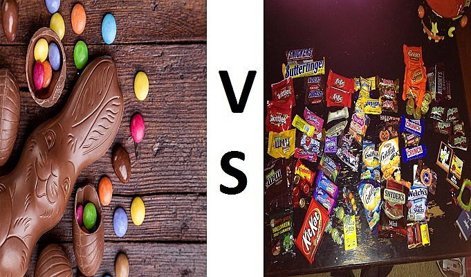 Easter candy vs halloween candy
